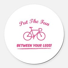 Put the fun between your legs! Round Car Magnet