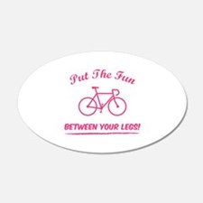 Put the fun between your legs! 22x14 Oval Wall Pee