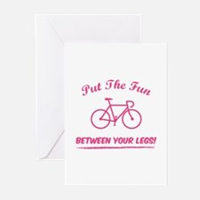 Put the fun between your legs! Greeting Cards (Pk