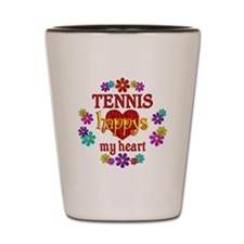 Tennis Happy Shot Glass