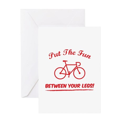Put the fun between your legs! Greeting Card