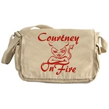 Courtney On Fire Messenger Bag