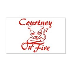 Courtney On Fire Wall Decal