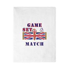 great britain tennis game set match Twin Duvet