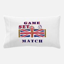great britain tennis game set match Pillow Case