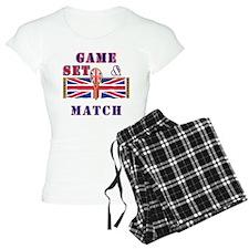 great britain tennis game set match Pajamas