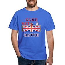 great britain tennis game set match T-Shirt