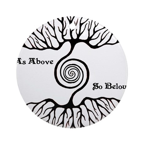 As Above ~ So Below Ornament (Round)