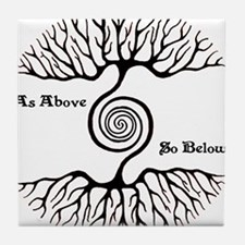 As Above ~ So Below Tile Coaster