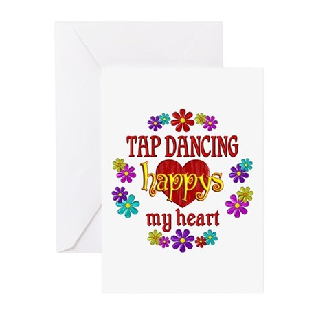 Tap Dancing Happy Greeting Cards (Pk of 10)