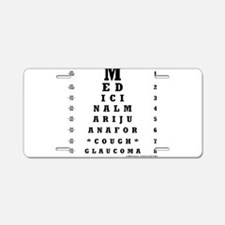 Eye Chart Aluminum License Plate