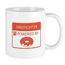 Firefighter powered by doughnuts Mug