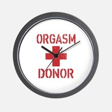Orgasm donor Wall Clock