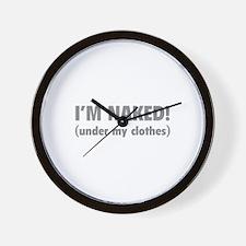 I'm naked! Wall Clock