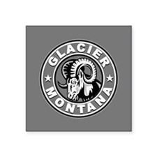 "Glacier Silver Circle Square Sticker 3"" x 3"""