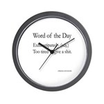 Exhaustipated Wall Clock