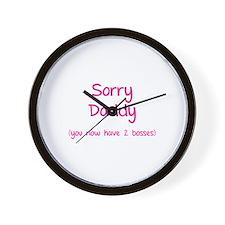 Sorry daddy Wall Clock