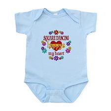Square Dancing Happy Infant Bodysuit