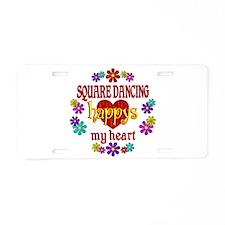 Square Dancing Happy Aluminum License Plate