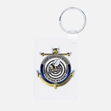 USN Seabees Gold Anchor Keychains