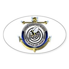 USN Seabees Gold Anchor Decal