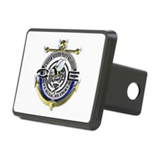 USN Seabees Gold Anchor CE Rectangular Hitch Cover