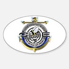 USN Seabees Gold Anchor CE Decal