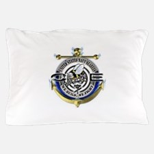 USN Seabees Gold Anchor CE Pillow Case