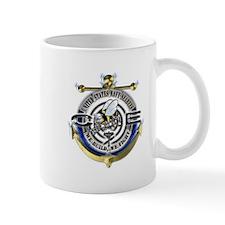 USN Seabees Gold Anchor CE Mug