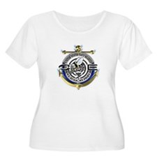 USN Seabees Gold Anchor CE T-Shirt