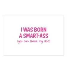 I was born a smart-ass Postcards (Package of 8)