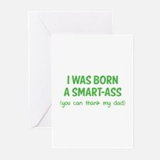 I was born a smart-ass Greeting Cards (Pk of 10)