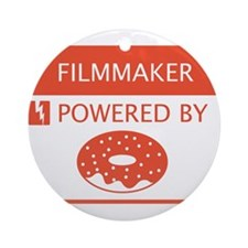 Filmmaker Powered by Doughnuts Ornament (Round)