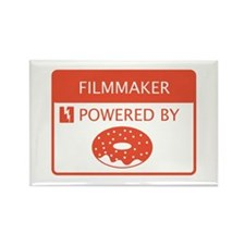 Filmmaker Powered by Doughnuts Rectangle Magnet
