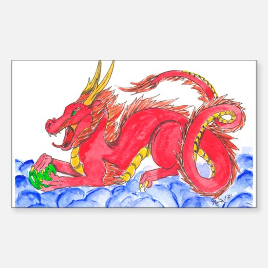 Red Chinese Dragon Decal