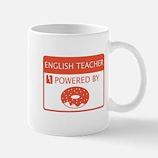 English Teacher Powered by Doughnuts Mug