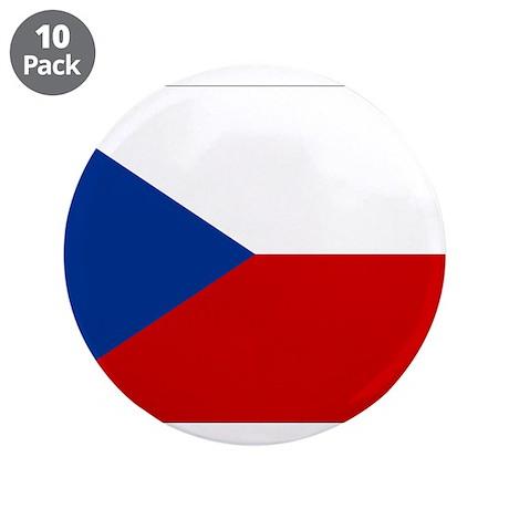 """Czech Republic 3.5"""" Button (10 pack)"""