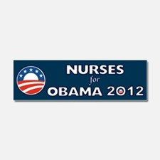 Nurses For Obama 2012 Car Magnet 10 x 3