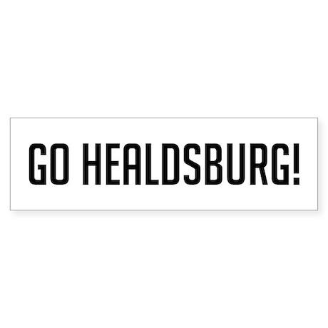 Go Healdsburg Bumper Sticker