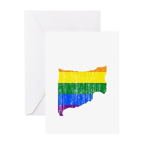 Cyprus Rainbow Pride Flag And Map Greeting Card