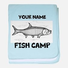 Custom Fish Camp baby blanket