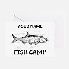 Custom Fish Camp Greeting Card