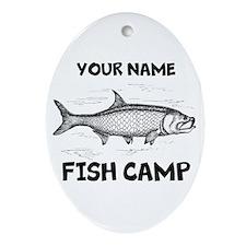 Custom Fish Camp Ornament (Oval)