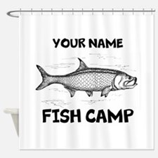 Custom Fish Camp Shower Curtain