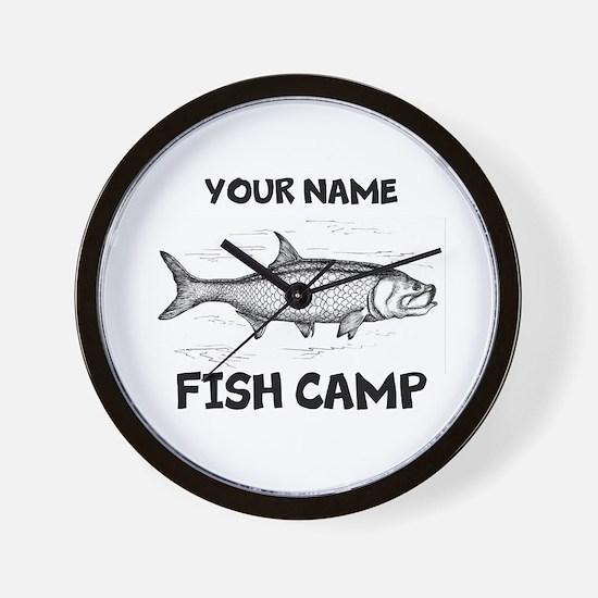Custom Fish Camp Wall Clock