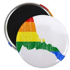 Eritrea Rainbow Pride Flag And Map Magnet
