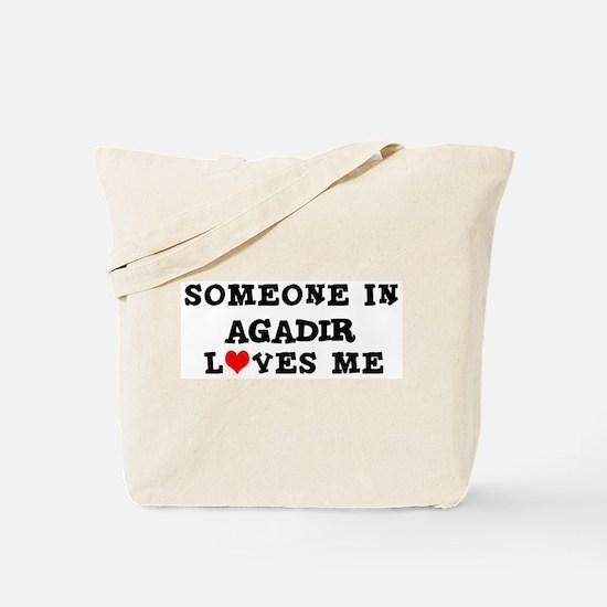 Someone in Agadir Tote Bag