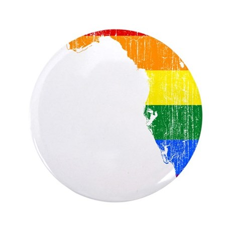 """Florida Rainbow Pride Flag And Map 3.5"""" Button"""