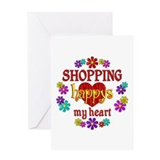 Shopping Happy Greeting Card