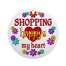 Shopping Happy Ornament (Round)